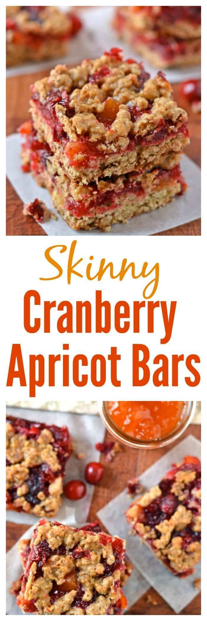 Skinny Cranberry Apricot Bars
