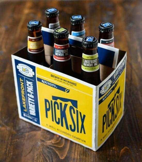 6-pack of beer in bottles