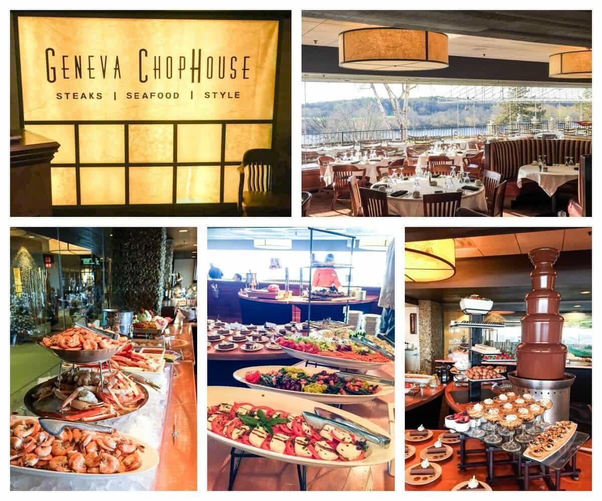 Where to eat in Lake Geneva: Grand Geneva ChopHouse Champagne Brunch