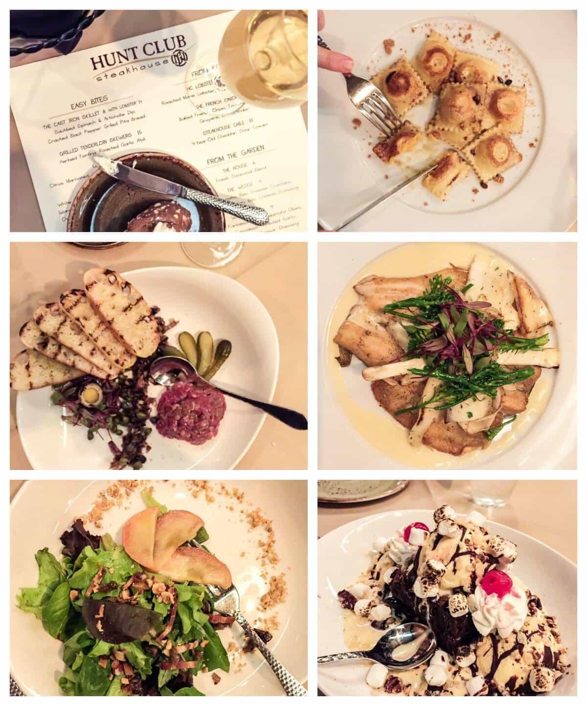 Dinner at the Hunt Club Steakhouse in Lake Geneva. One of the best Lake Geneva restaurants!
