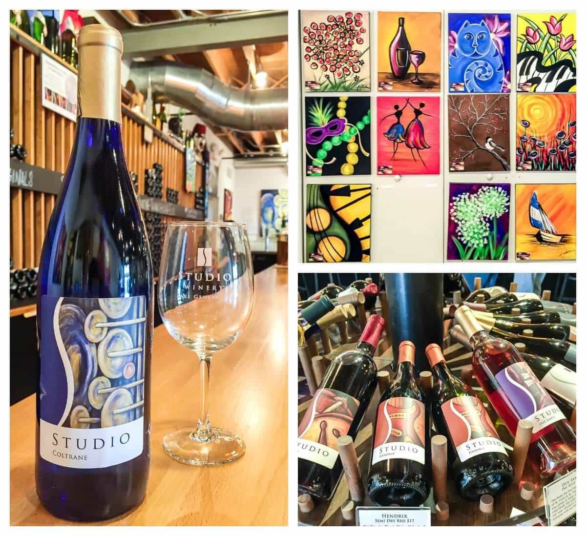 Best places to visit, eat, and drink in Lake Geneva Wisconsin, including Studio Winery