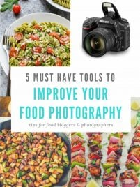 The most important food photography equipment and food photography tips for food bloggers