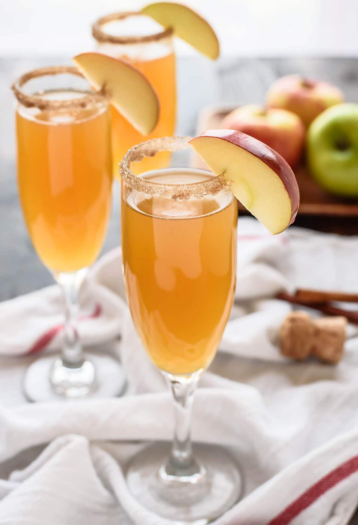 You'll be finding every excuse to break out the bubbly and make these beautiful Apple Cider Champagne Cocktails. Only 3 ingredients and absolutely delicious.