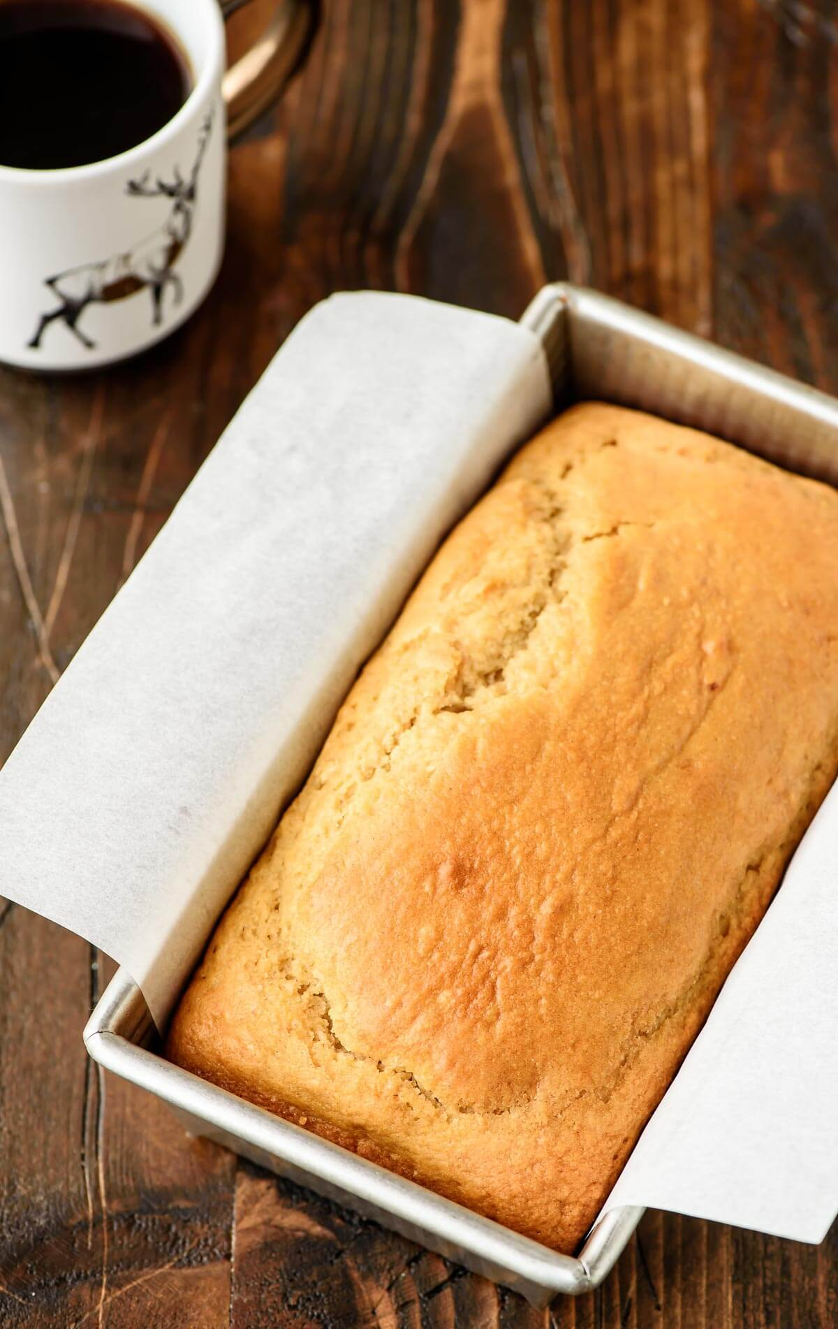 Moist Eggnog Bread packed with the holiday flavors of vanilla, nutmeg, and of course butter! Perfect for Christmas breakfast and homemade holiday gifts.