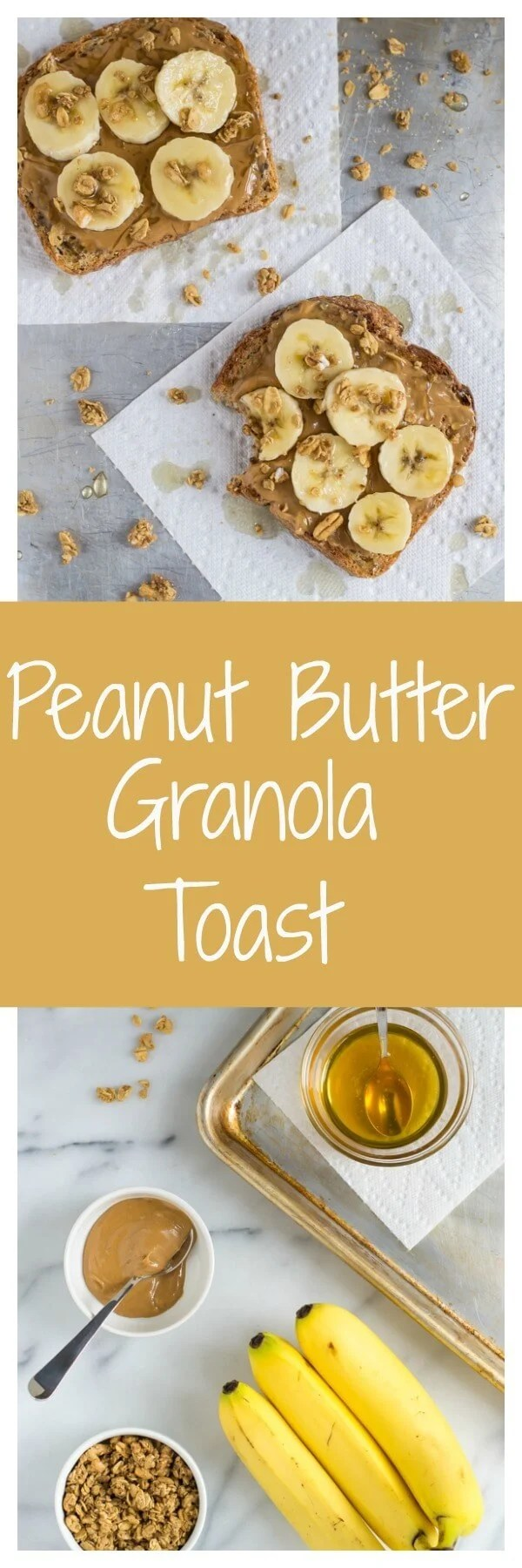 Peanut Butter Granola Toast. The best breakfast, afternoon snack or emergency dinner!