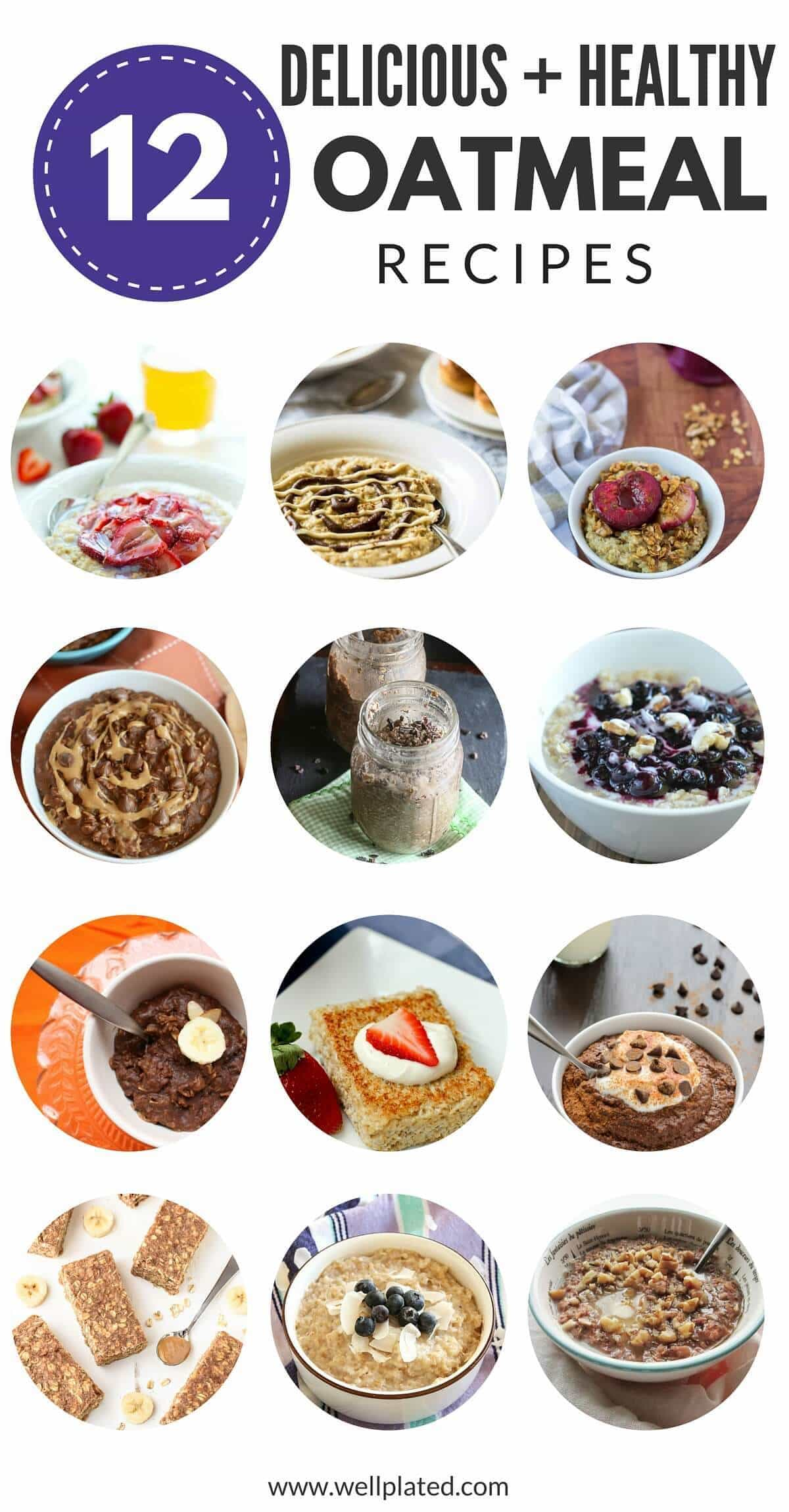 Oatmeal doesn't have to be boring! These 12 delicious and healthy oatmeal recipes offer so many flavor variations and will have you craving oatmeal every morning.