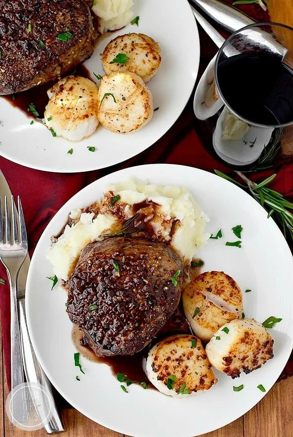 Surf and Turf for Two. Sometimes you just can't mess with a classic when it comes to romantic dinner recipes!