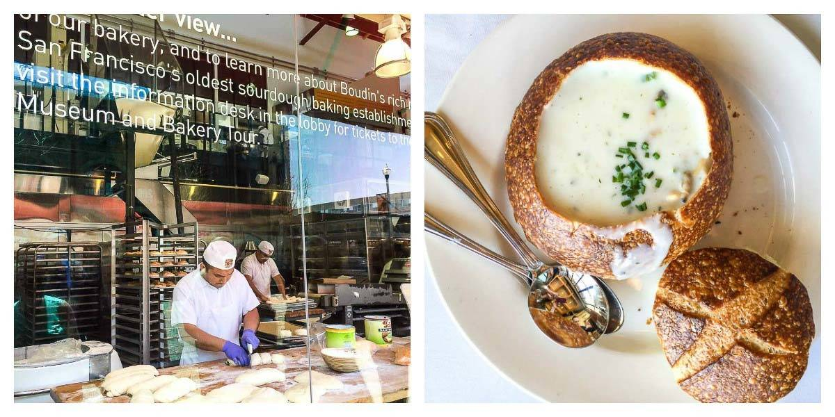 Boudin Bakery — The famous sourdough at Boudin is a must do activity in San Francisco!