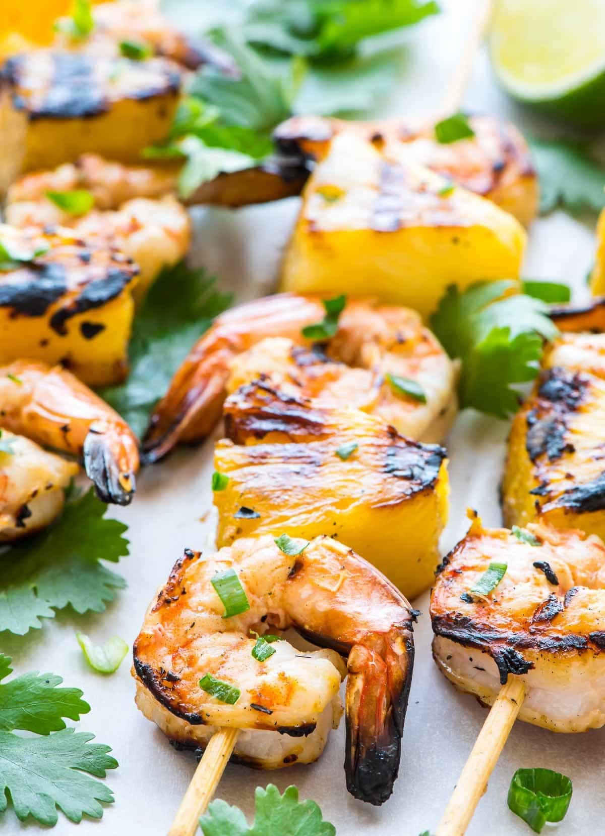 Shrimp Kabobs with Pineapple for the grill, oven, or stove top.