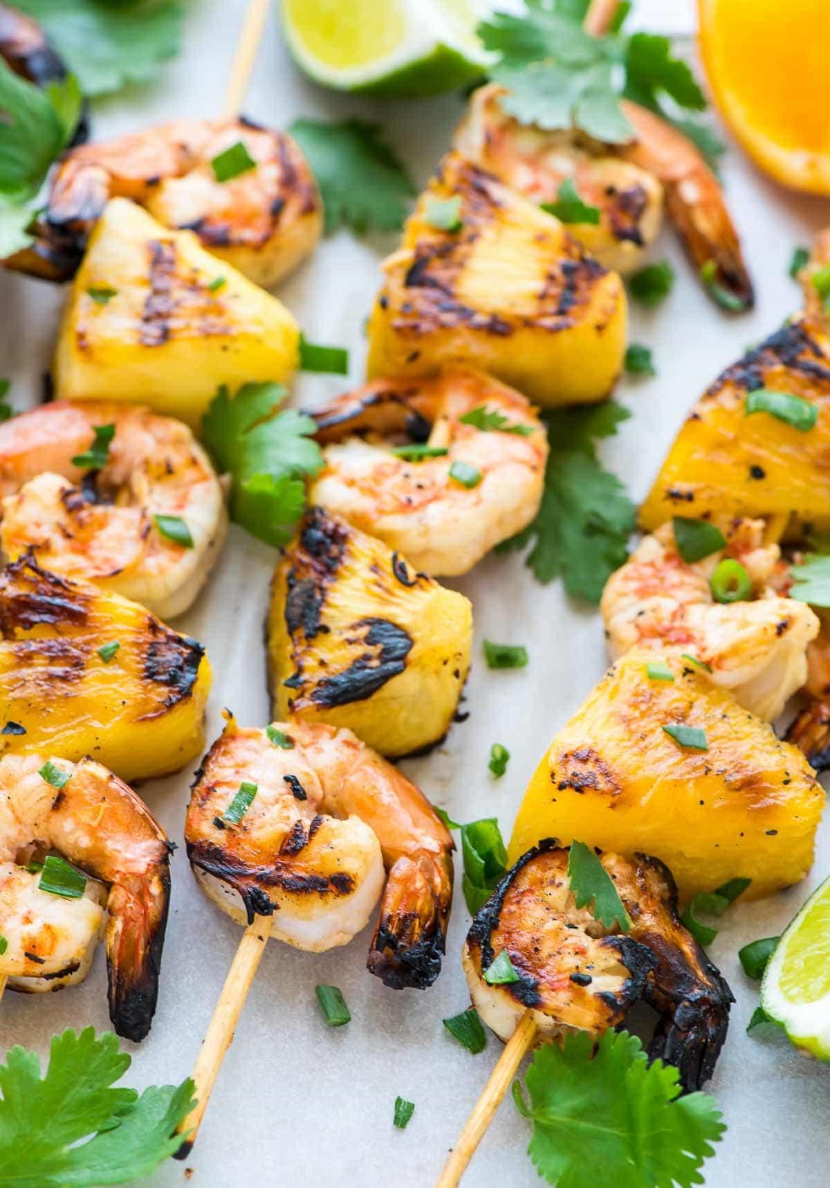 Easy Coconut Pineapple Shrimp Kabobs