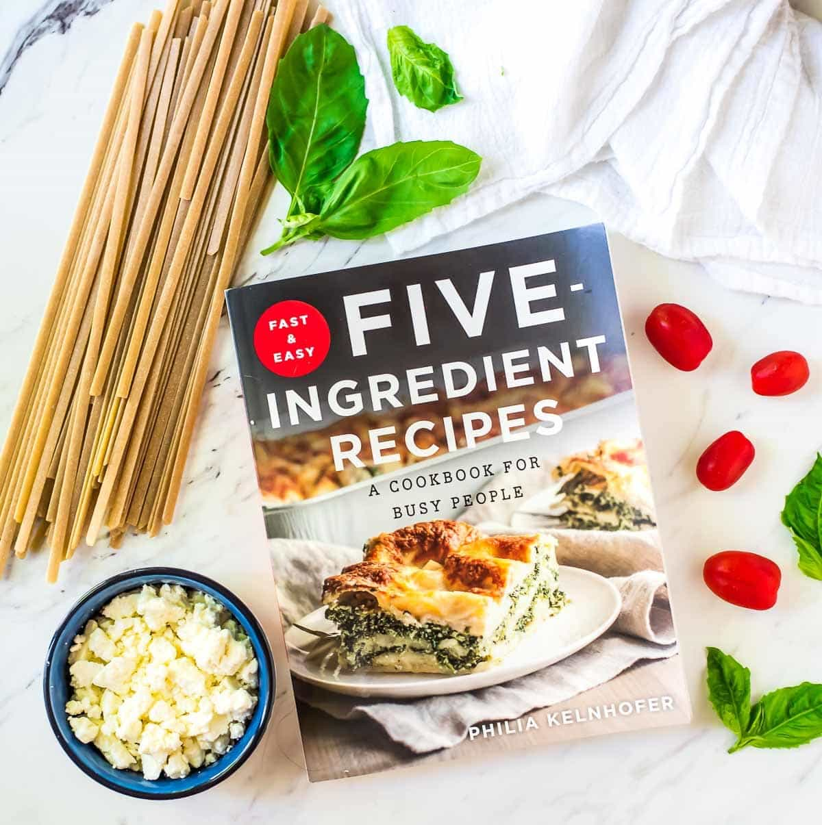ONE PAN Feta Chicken Pasta — Only FIVE ingredients! An easy, healthy meal your whole family will love. This is our go-to weeknight meal! @wellplated
