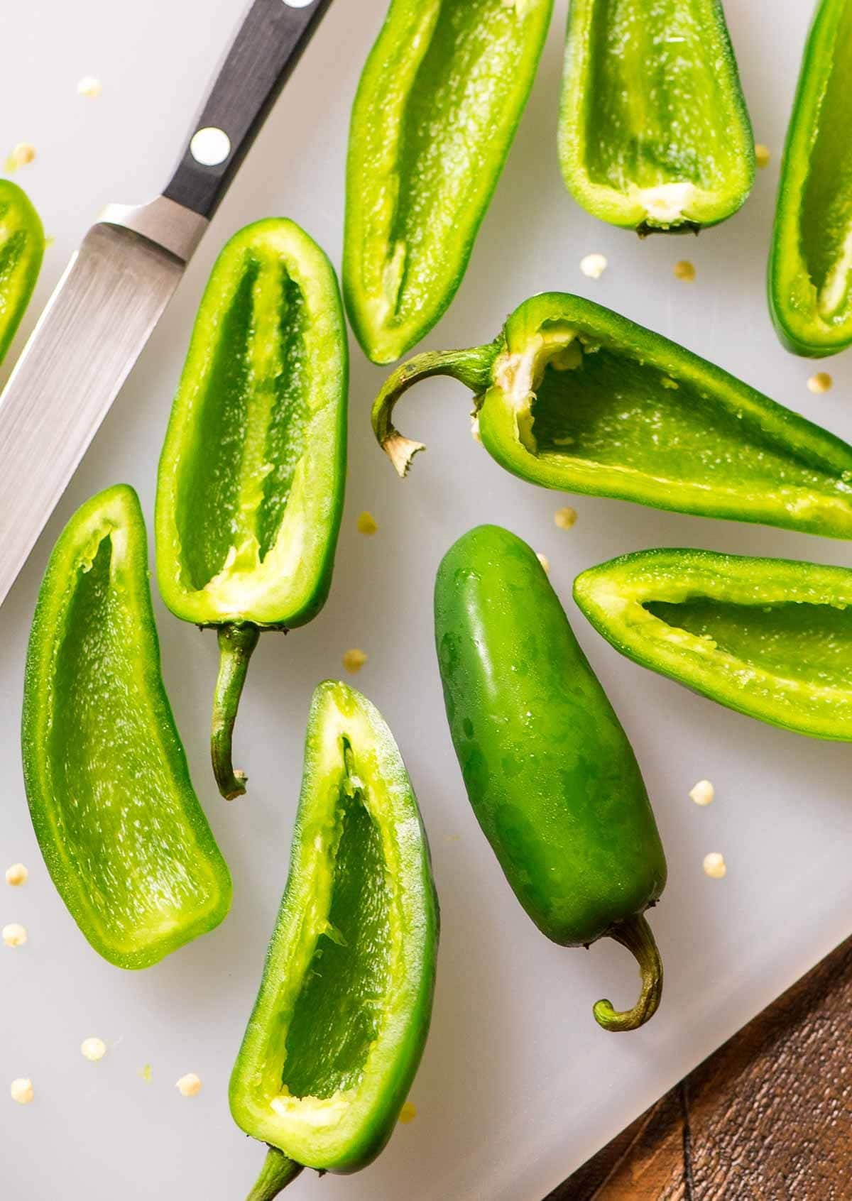 Jalapeno peppers for making easy jalapeno poppers recipe