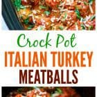 titled photo collage - crock pot turkey meatballs