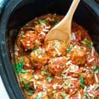 Classic Italian Turkey Meatballs, made easy in the crock pot! Our whole family loves this slow cooker recipe. Healthy and freezer friendly! @wellplated