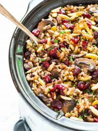 Crock Pot Stuffing with Wild Rice