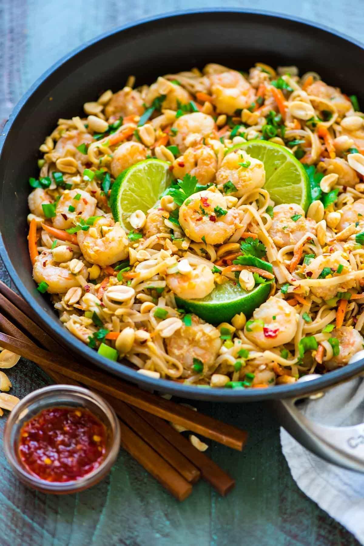 Healthy Shrimp Pad Thai 15 Minutes Wellplated Com