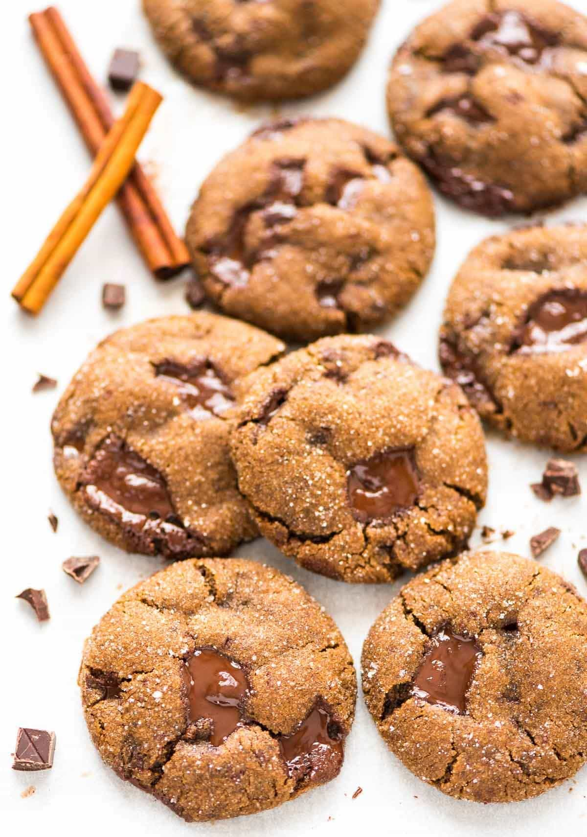 Martha Stewart's famous Chocolate Ginger Cookies. Soft and chewy with warm gingerbread spices. Fresh ginger and dark chocolate make these the best Christmas cookies for the holidays!
