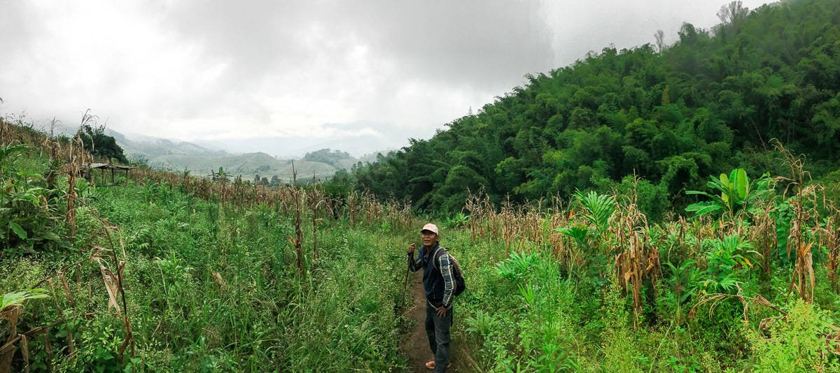 Hiking through northern Thailand - our guide and cook