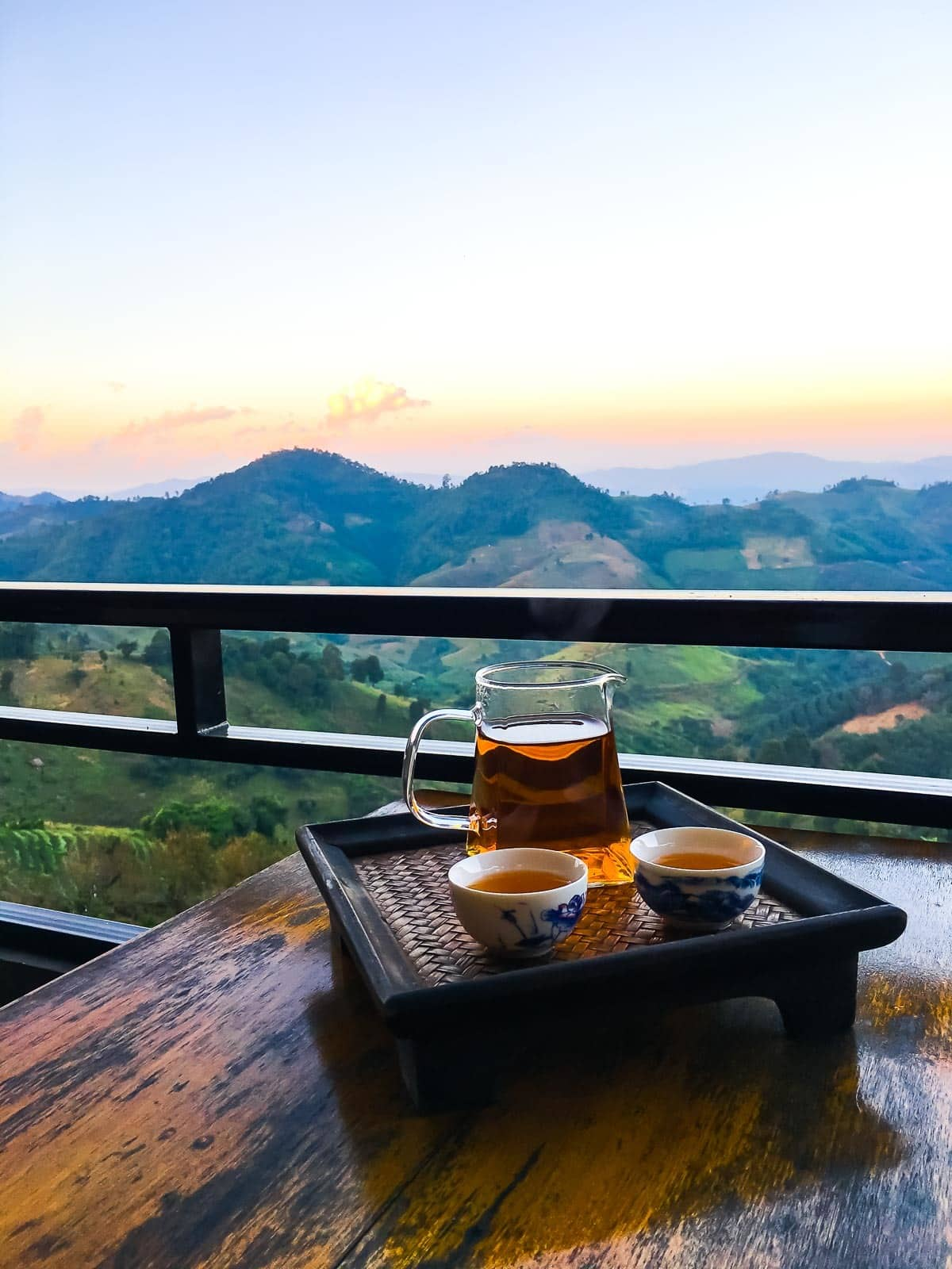 Tea fields and mountains of northern Thailand. Complete Thailand travel guide to plan your visit. | found at wellplated.com @wellplated