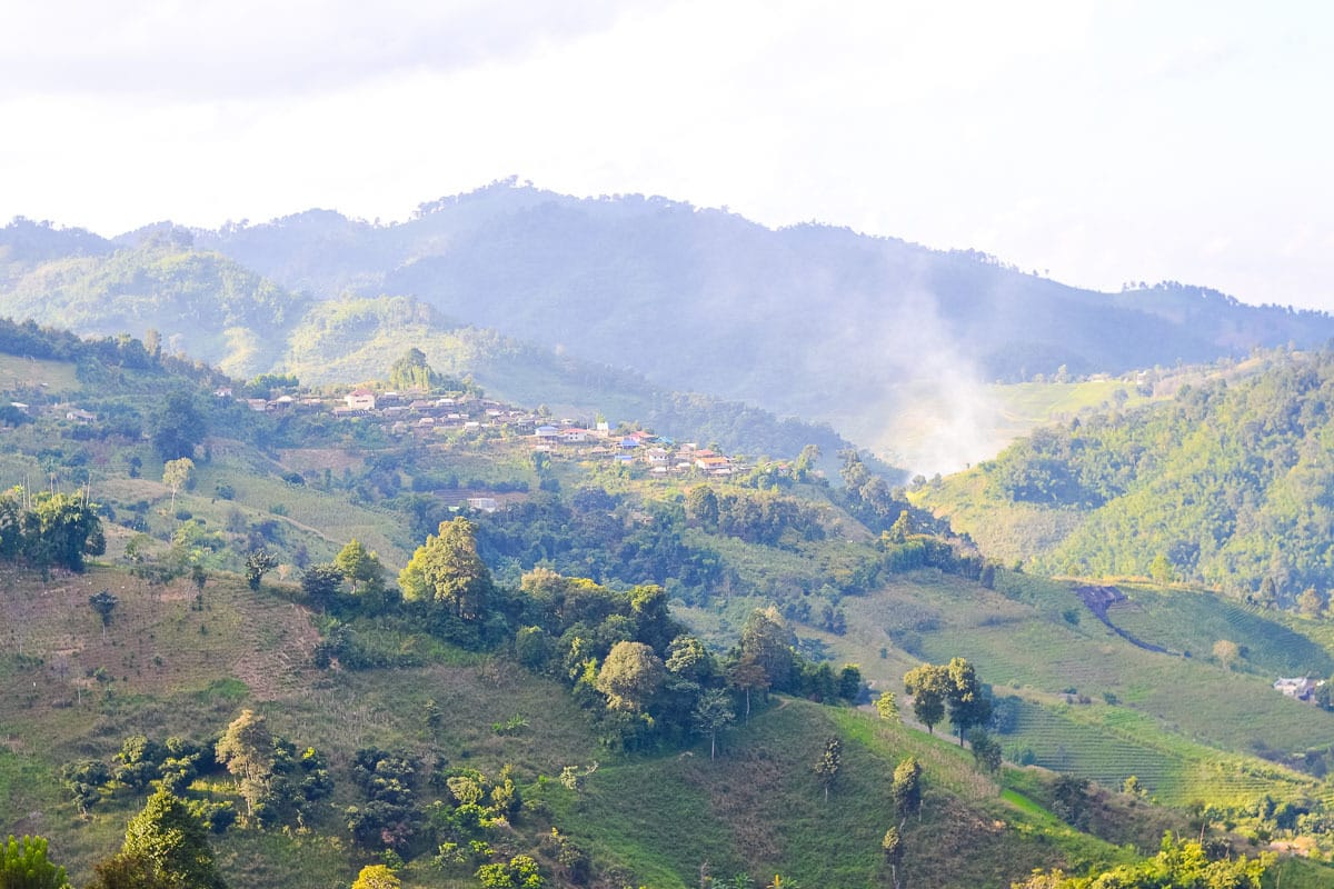 Mountain villages in the north of Thailand