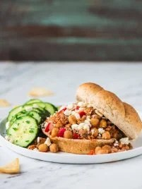 Homemade Crock Pot Sloppy Joes sandwich
