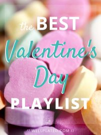 The Best Valentine's Day Playlist. Find the perfect mix of romantic songs for your Valentine! Fun, original, and heartfelt (not cheesy!). from wellplated.com @wellplated