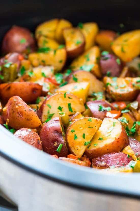 breakfast potatoes in a slow cooker
