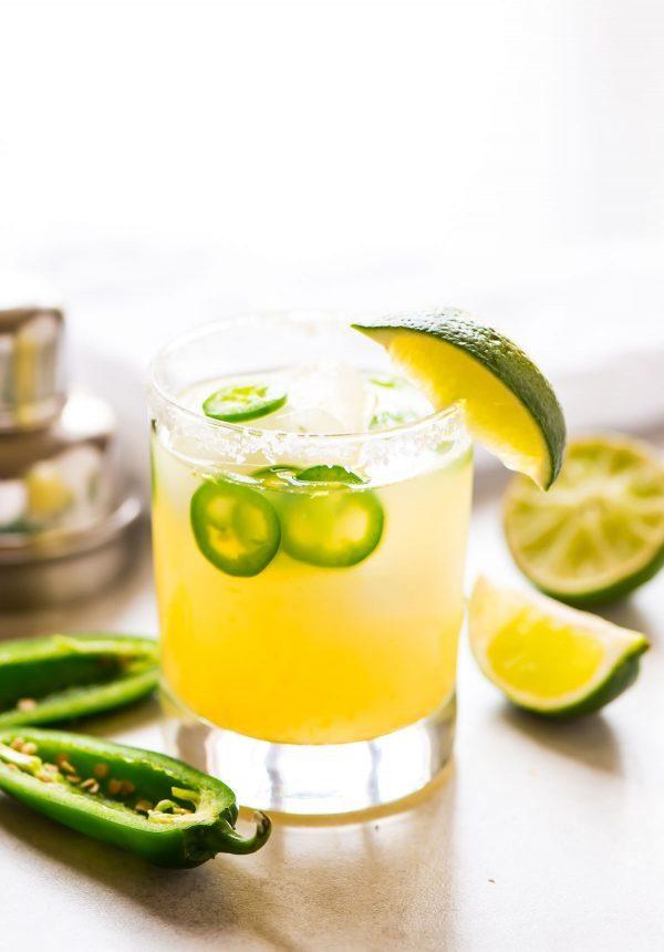 Jalapeno Margarita with fresh lime
