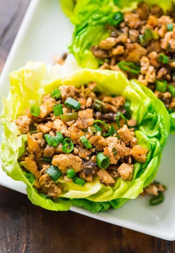 Easy and healthy lettuce wraps served on a plate
