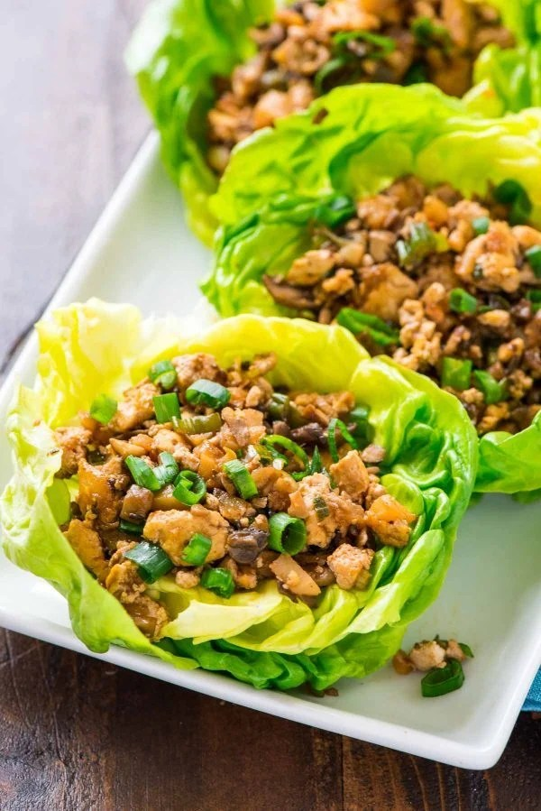 Copycat PF Changs Vegetarian Lettuce Wraps. Less than 200 calories for a HUGE serving. Easy, healthy and WAY better than the original! {vegan, gluten free, dairy free, low carb} Recipe at wellplated.com | @wellplated
