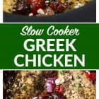 titled photo collage - Slow Cooker Greek Chicken
