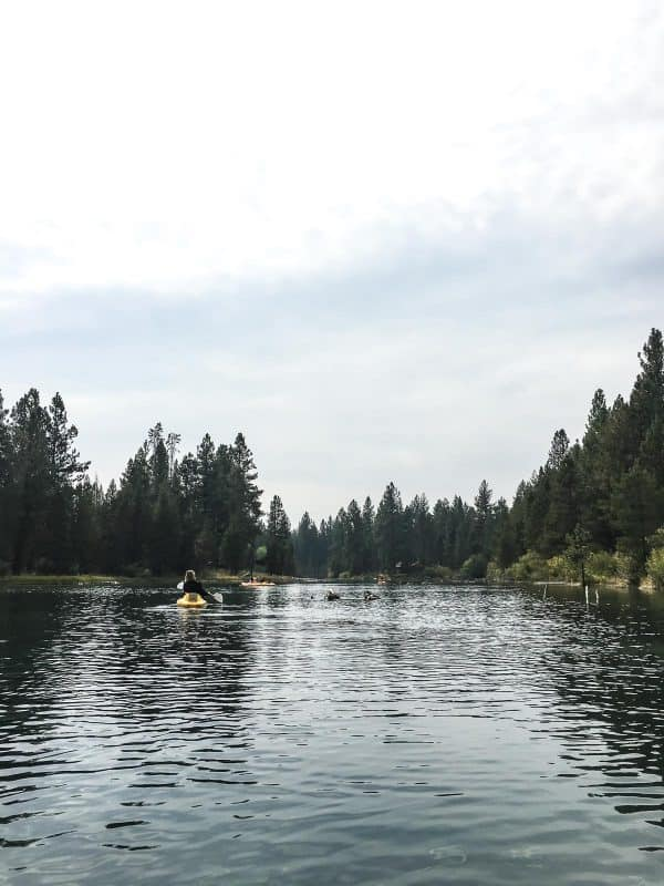 Kayaking at Sunriver Resort