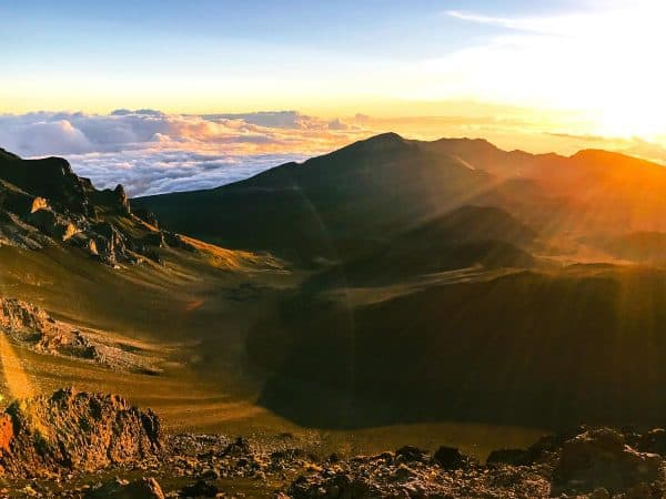 Sunrise at Haleakalā Volcano in Maui Hawaii