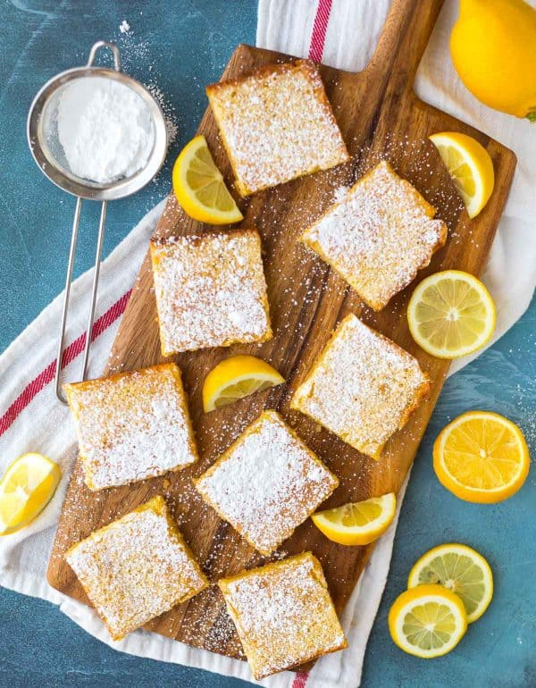 These delicious lemon squares with shortbread base are the perfect citrus dessert.