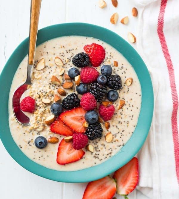 The best recipe for overnight steel cut oats. An easy, healthy make ahead breakfast!