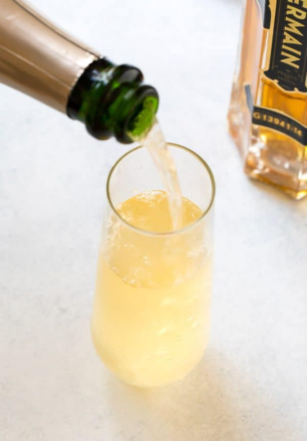 Top the mix of Hendrick's (or your favorite gin), St. Germain, and fresh lemon juice with a pour of bubbly prosecco or champagne.