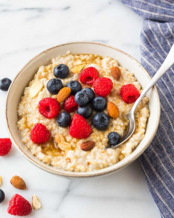 This steel cut oats recipe will change your breakfast forever! An easy step by step recipe with lots of ideas for topping.