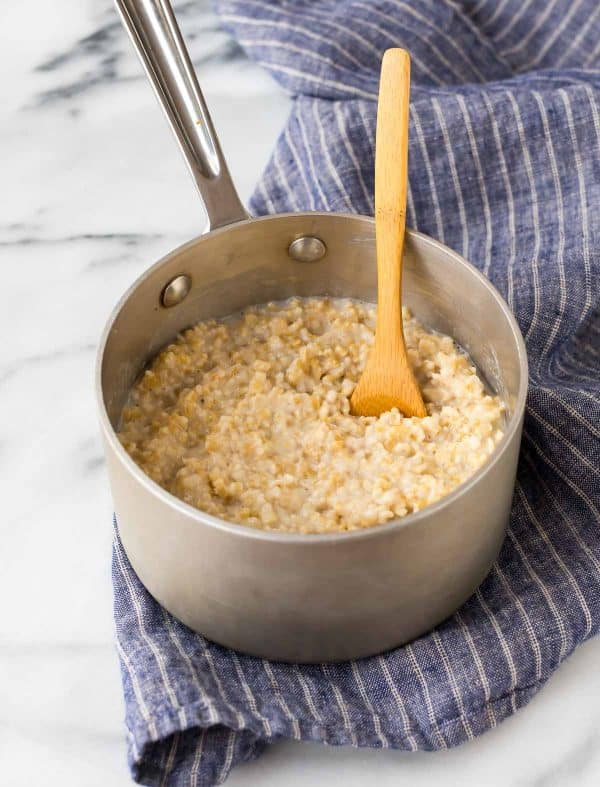 Classic stove top steel cut oatmeal is a healthy breakfast that is endlessly customizable.