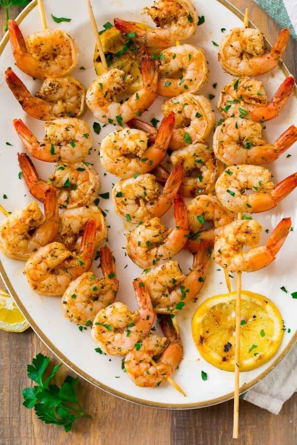 BBQ Grilled Shrimp Skewers