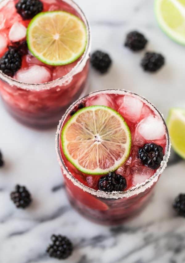 Better than Chili's Blackberry Margarita