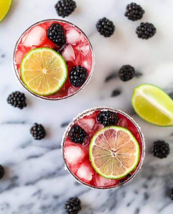 Fresh Skinny Blackberry Margarita recipe. Make 1 or a pitcher of margaritas!