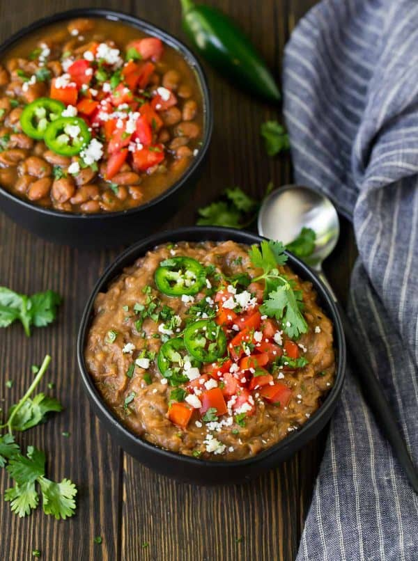 Crock Pot Pinto Beans is a hands-off recipe to make pinto beans in the crock pot with no soaking.