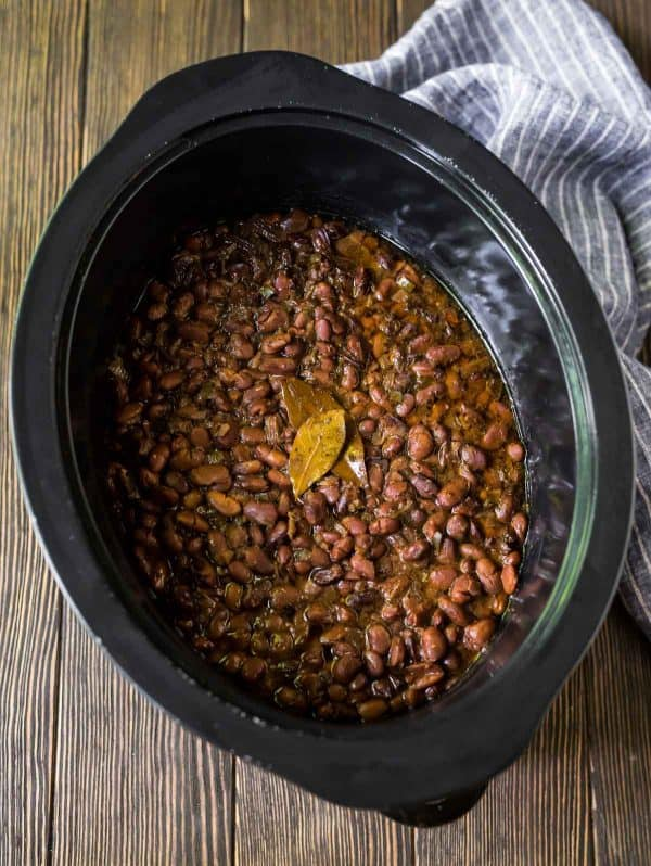 Healthy Crock Pot Pinto Beans made easy in the slow cooker.