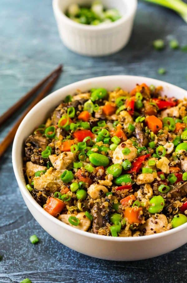 Easy Quinoa Fried RIce. A fast, easy, healthy quinoa recipe.