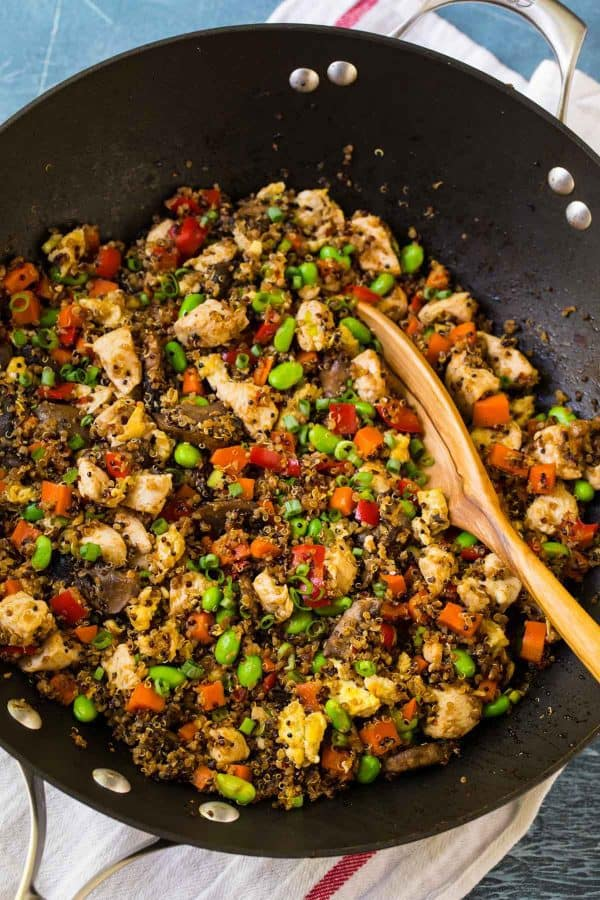 Easy Quinoa Fried Rice. Tasty, easy, and healthy!