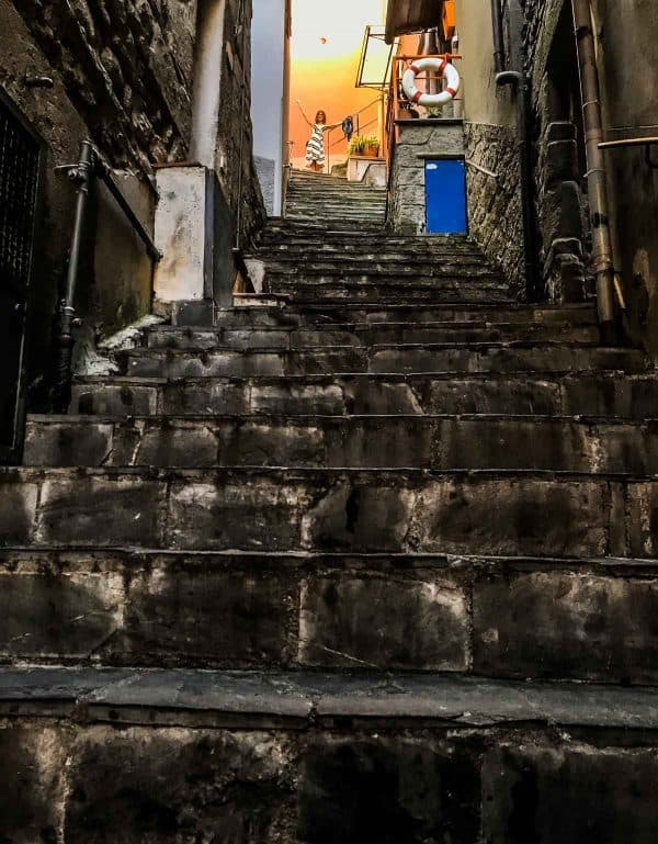 Cinque Terre Stair Case. Best itinerary for cinque terre.