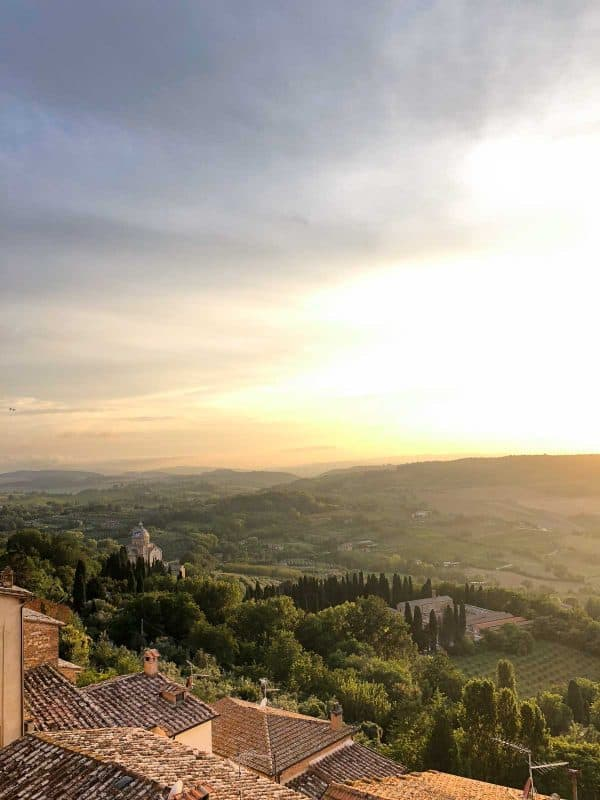 What to Pack for a Trip to Europe and a view of Montepulciano, Italy