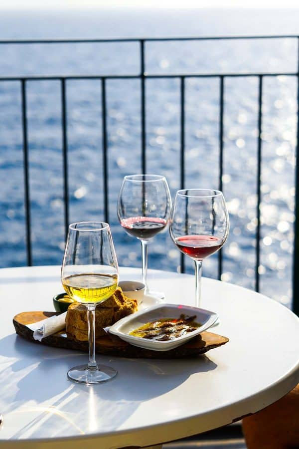 Cinque Terre Vernazza Wine Experience and anchovies. Best Cinque Terre Restaurants