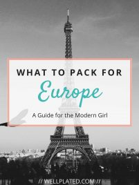 What to Pack for Europe - Including essential electronics, how to plan what to wear, what to bring on a long plane ride, and more! Whether planning what to bring on a 10 day Europe trip, a 2 week Europe trip, or longer, this guide has all of the information you need for how to pack abroad.