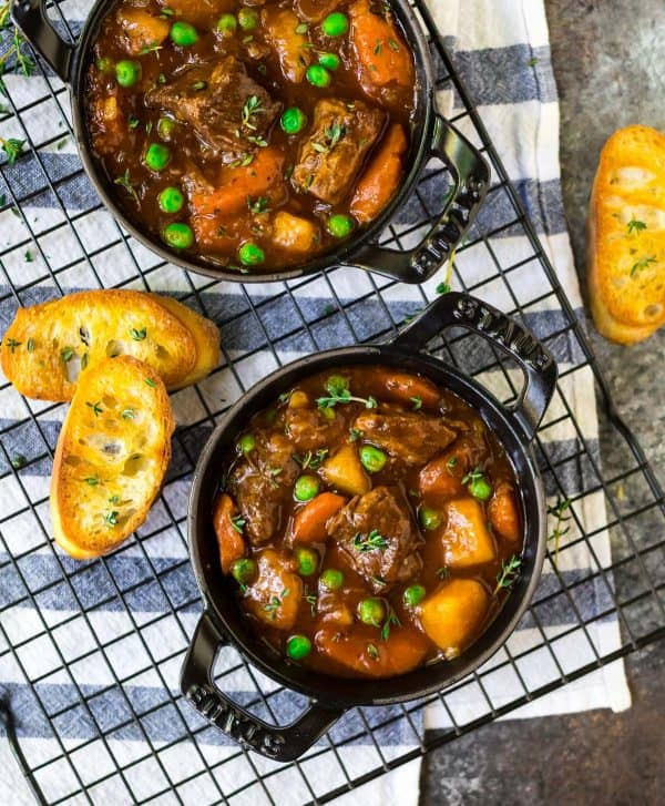Instant Pot Beef Stew. Classic comfort food with tender beef and lots of vegetables.